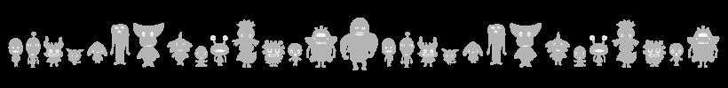 キャラクター紹介の飾り罫